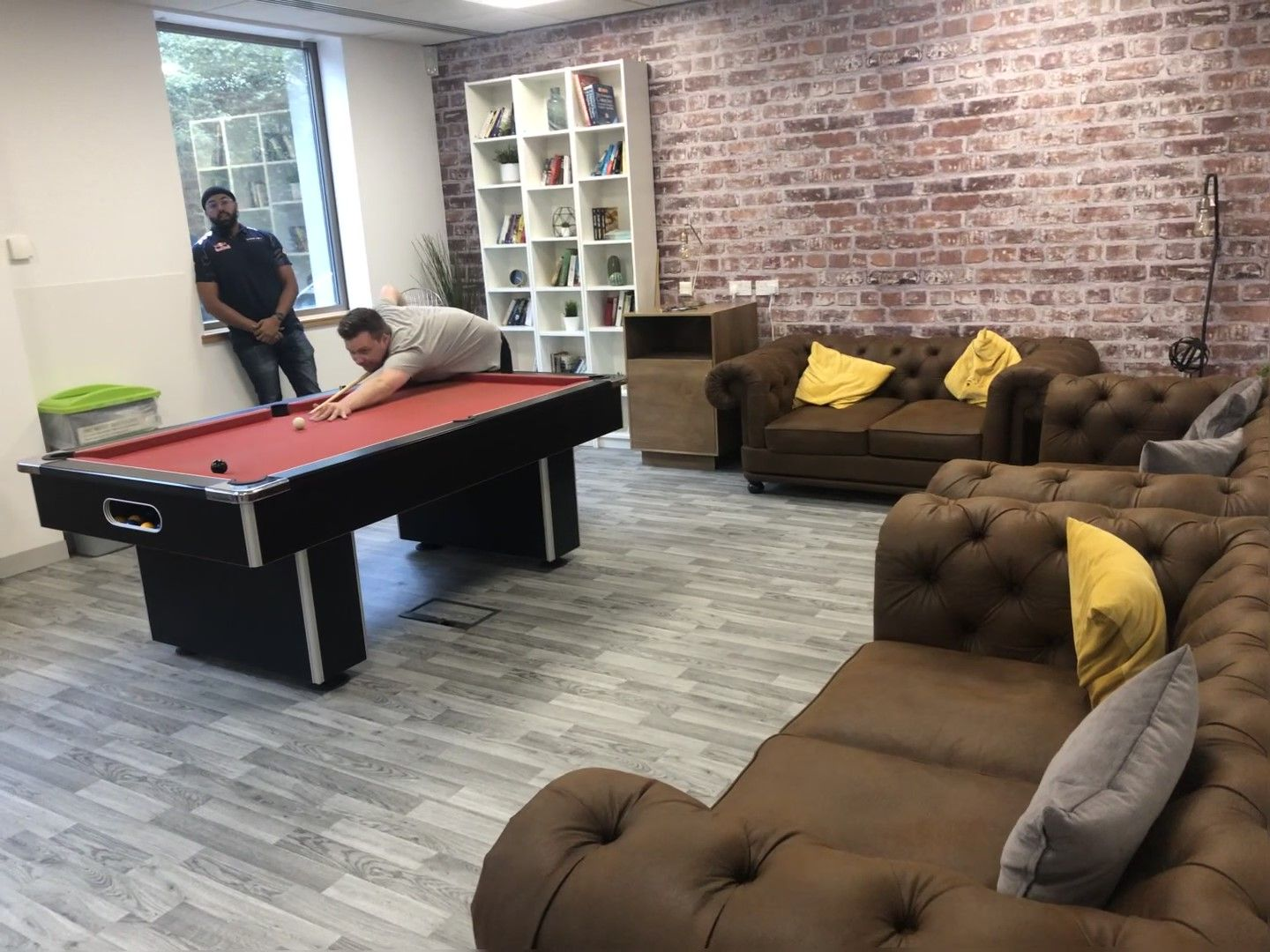 Here's a photo of the comfy new sofa area!